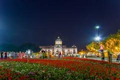 Królewski zima festiwal, ` Oon Ai Rak Klay Kwam Nao `, Królewski plac, Dusit pałac i Sanam Suea Pa, Bangkok, Tajlandia na Februar Obraz Stock