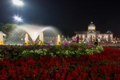 Królewski zima festiwal, ` Oon Ai Rak Klay Kwam Nao `, Królewski plac, Dusit pałac i Sanam Suea Pa, Bangkok, Tajlandia na Februar Obraz Royalty Free