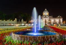 Królewski zima festiwal, ` Oon Ai Rak Klay Kwam Nao `, Królewski plac, Dusit pałac i Sanam Suea Pa, Bangkok, Tajlandia na Februar Fotografia Stock