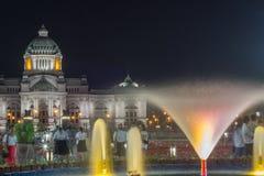 Królewski zima festiwal, ` Oon Ai Rak Klay Kwam Nao `, Królewski plac, Dusit pałac i Sanam Suea Pa, Bangkok, Tajlandia na Februar Obrazy Stock