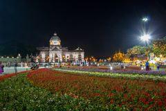Królewski zima festiwal, Oon Ai Rak Klay Kwam Nao przy Królewskim placem, Dusit pałac i Sanam Suea Pa, Bangkok, Tajlandia na Febr Fotografia Royalty Free
