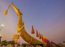 Królewski zima festiwal, ` Oon Ai Rak Klay Kwam Nao ` przy placem, Dusit pałac i Sanam Suea Pa, Królewskimi, Bangkok, Tajlandia n Obrazy Stock