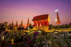 Królewski zima festiwal, ` Oon Ai Rak Klay Kwam Nao ` przy placem, Dusit pałac i Sanam Suea Pa, Królewskimi, Bangkok, Tajlandia n Obraz Royalty Free