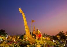 Królewski zima festiwal, ` Oon Ai Rak Klay Kwam Nao ` przy placem, Dusit pałac i Sanam Suea Pa, Królewskimi, Bangkok, Tajlandia n Zdjęcia Royalty Free