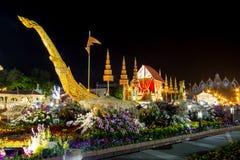 Królewski zima festiwal, ` Oon Ai Rak Klay Kwam Nao ` przy placem, Dusit pałac i Sanam Suea Pa, Królewskimi, Bangkok, Tajlandia n Obrazy Royalty Free