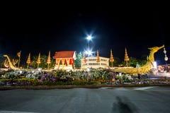 Królewski zima festiwal, ` Oon Ai Rak Klay Kwam Nao ` przy placem, Dusit pałac i Sanam Suea Pa, Królewskimi, Bangkok, Tajlandia n Zdjęcie Royalty Free