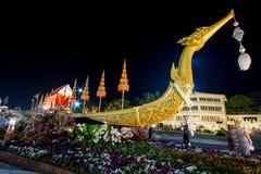 Królewski zima festiwal, ` Oon Ai Rak Klay Kwam Nao ` przy placem, Dusit pałac i Sanam Suea Pa, Królewskimi, Bangkok, Tajlandia n Zdjęcie Stock