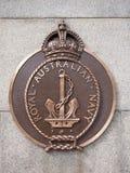 Królewskiej Australijskiej marynarki wojennej plakiety, królewiątka Parkują Perth zachodnią australię zdjęcie royalty free