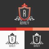 Królewskość grzebienia ornamentu szablon Nowożytnego wektoru EPS10 pojęcia Ilustracyjny projekt Zdjęcia Royalty Free