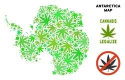 Królewskości Bezpłatna marihuana Opuszcza kolażu Antarctica mapę ilustracji