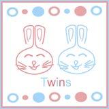 królików bliźniacy Fotografia Stock