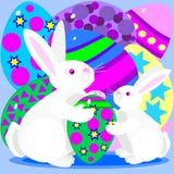 królików Easter jajka ilustracji