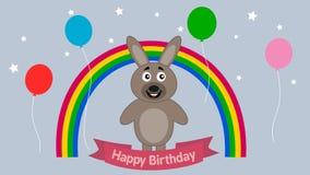 Królik świętuje urodziny - animacja ilustracji