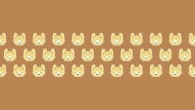 100 królik dla zadziwiającej tapety z brown tłem royalty ilustracja