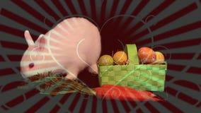 Królik i warzywa ilustracja wektor