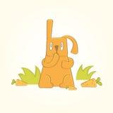 Królik jest przyglądający dla marchewek Zdjęcie Stock