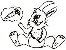 królik kreskówka Obrazy Royalty Free