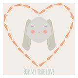 Królik miłości ilustracja Zdjęcia Stock