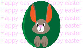 królik Wielkanoc szczęśliwy Zdjęcia Royalty Free