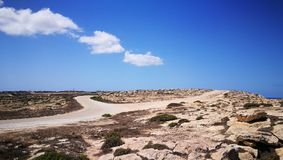 Królik wyspa na Lampedusa, Sicily Obrazy Stock