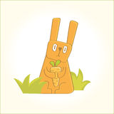 Królik z marchewkami Zdjęcie Stock