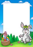 królika śliczna Easter rama ilustracja wektor