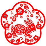 królika chiński nowy rok Obrazy Stock
