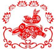 królika chiński nowy rok ilustracja wektor