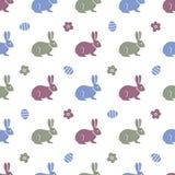 królika Easter deseniowy bezszwowy Króliki, zając ilustracja wektor