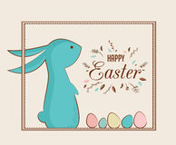 królika Easter jajka 2007 pozdrowienia karty szczęśliwych nowego roku ilustracji