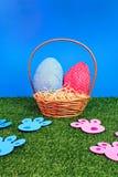 królika Easter jajka tropią ślada Obrazy Stock
