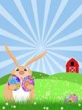 królika Easter zielony szczęśliwy paśnik royalty ilustracja