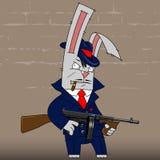 królika gangster royalty ilustracja