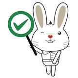 Królika i królika charakter ilustracji