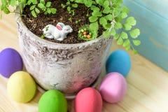 królika karciany Easter powitanie Zdjęcia Royalty Free