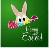 królika karciany Easter powitanie Zdjęcie Royalty Free
