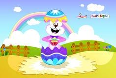 królika kolorowy Easter puszysty target486_0_ Obrazy Royalty Free