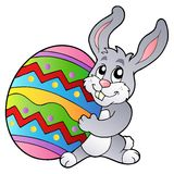 królika kreskówki Easter jajka mienie Obraz Stock