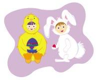 królika kurczątko Easter Fotografia Stock