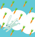 królika marchwiany deszcz ilustracji