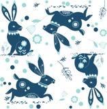 Królika królika Paisley wzór Obrazy Stock