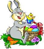 królika pisklęcy śliczni Easter jajka Zdjęcie Royalty Free