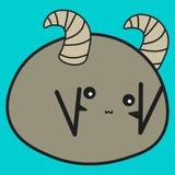 Królika zodiaka znaka Aries w kreskówka stylu ilustracja wektor
