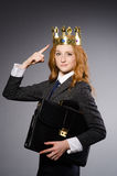 Królowa bizneswoman Fotografia Stock