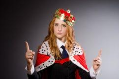 Królowa bizneswoman Obrazy Royalty Free
