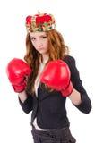 Królowa boksera bizneswoman Zdjęcie Royalty Free