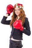 Królowa boksera bizneswoman Obraz Stock