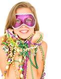 królowa mardi gras piękny uśmiech Obrazy Royalty Free