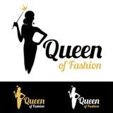 Królowa moda loga projekt Fotografia Stock