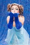królowa piękny śnieg Fotografia Royalty Free